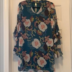 Macy's Long Sleeve Floral Dress - New with Tags